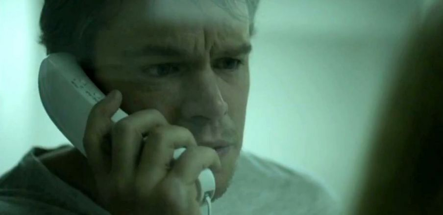 Matt Damon in quarantine in Contagion